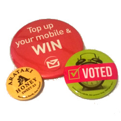 Button Badge Sizes - 25mm, 38mm & 57mm